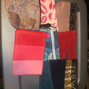 Set of 8 IPSY Makeup Bags!